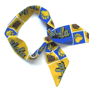 UCLA Scarf, Skinny Scarf, UCLA Bruins, Neck Scarf, Purse Scarf, ucla football, ucla spirit, UCLA Accessories, College Gift, Ready to Ship