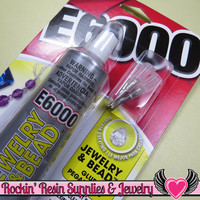 E-6000 Jewelry & Bead Adhesive with Precision Tips 1oz Professional Craft Glue