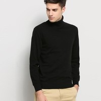Turtle Neck Slim Fit Sweater for Men