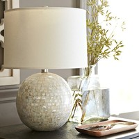 JOLIE MOTHER-OF-PEARL ROUND LAMP BASE