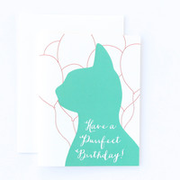 Have a Purrfect Birthday Cat Card