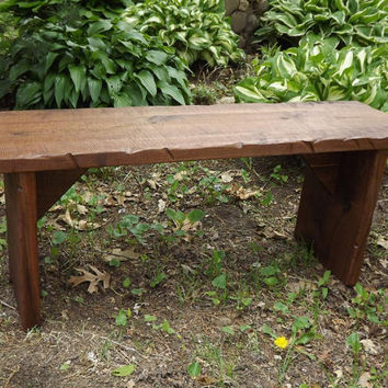 Bench/ Coffee Table / Reclaimed wood /Rustic / Solid Black Walnut/ Rough sawn