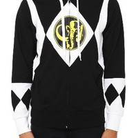 Mighty Morphin Power Rangers Black Ranger Zip Hoodie
