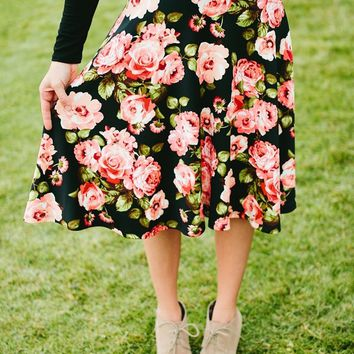 Floral Midi Skirts for Fall | 2 Colors!