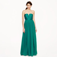 Nadia long dress in silk chiffon - silk chiffon - Wedding's Bridesmaid - J.Crew