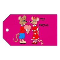 Love Mice Valentines Day Gift Tags