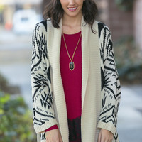 Thick Knit Aztec Cardigan