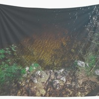 'Summer Lake - Aerial Photography' Wall Tapestry by Nicklas Gustafsson