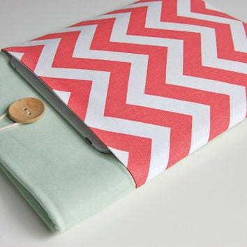 Coral Laptop Case 13 inch Ultrabook, MacBook Air 13 or MacBook Pro Sleeve with Pocket