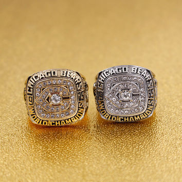 1985 Chicago Bears championship rings gold and silver suit for sport fans as the best souvenir