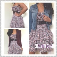 Express floral ruffle dress