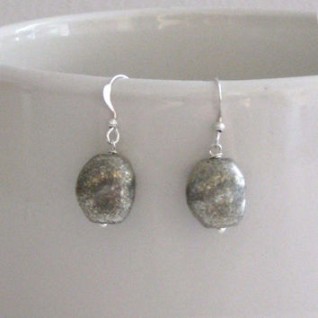 Silver Nugget Earrings