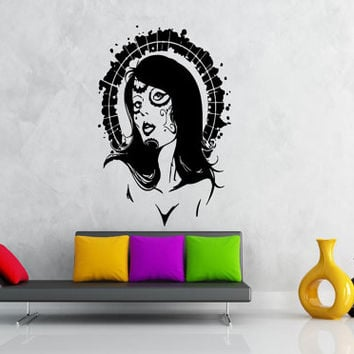 Wall Decor Vinyl Sticker Room Decal Art Tattoo Gypsy Aura Sexy Woman Girl 643