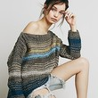 Free People Womens Awash in Stripes Pullover