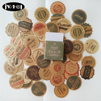 45pcs  Vintage memory circular label sticker paper decoration sticker diy handmade diary album scrapbooking sticker Arts,Crafts
