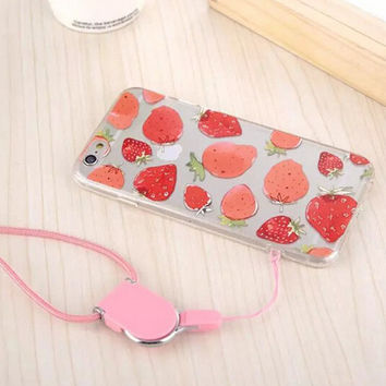Original Strawberry Sling iPhone 5s 6 6s Plus Case Cover Gift-111