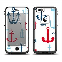 The Various Anchor Colored Icons Apple iPhone 6 LifeProof Fre Case Skin Set