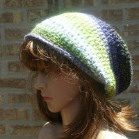 Ready To Ship - Slouchy Hat - Slouchy Beanie - Womens Hat - The Eden in Neon Green