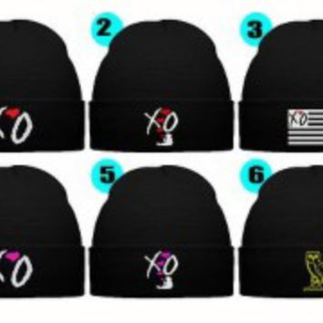 XO THE WEEKND BEANIE WINTER HAT XO OVO OWL BEANIE HAT SWAG DOPE BEANIE XOXOX HAT