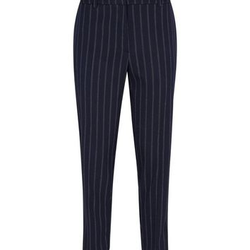 Navy Pinstripe Slim Leg Trousers | New Look