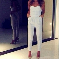 Casual Strapless Jump Suit