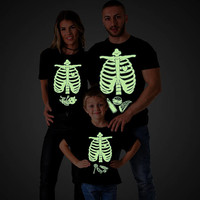 Glow in the dark shirt, Glow in the dark clothing, Halloween maternity shirts, Skeleton baby shirt, Halloween shirt, Baby boy, UNISEX