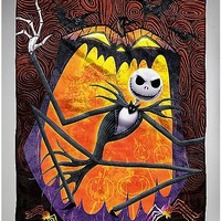 Jack Swirls Nightmare Before Christmas Fleece Blanket - Spencer's