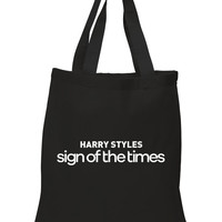 "Harry Styles ""Harry Styles Sign of the Times"" 100% Cotton Tote Bag"