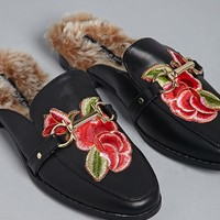 Embroidered Loafer Slip-Ons