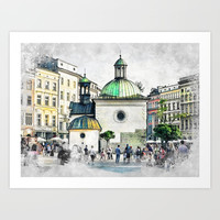 Cracow art 3 #cracow #krakow #city Art Print by jbjart