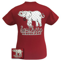 Girlie Girl Originals Southern Polka Dot Happy & Preppy Elephant T Shirt