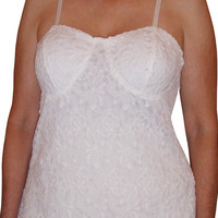 Funfash Plus Size Clothing White Lace Bustier Corset Top Blouse Shirt New Made in USA