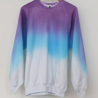 ANDCLOTHING — Lavender Blue Dip Dye Sweater <em>SOLD OUT</em>