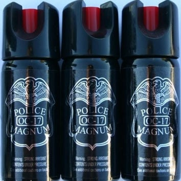 POLICE MAGNUM OC-17 MACE PEPPER SPRAY - 3 pk