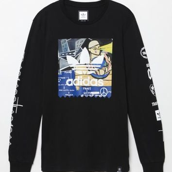 adidas - Traplord Yams Long Sleeve T-Shirt - Mens Tee - Black d7db23058