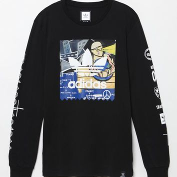 adidas - Traplord Yams Long Sleeve T-Shirt - Mens Tee - Black