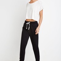 Heathered Drawstring Joggers