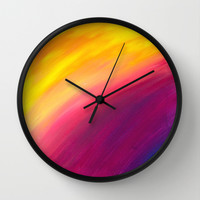 Skyfall Wall Clock by Sierra Christy Art