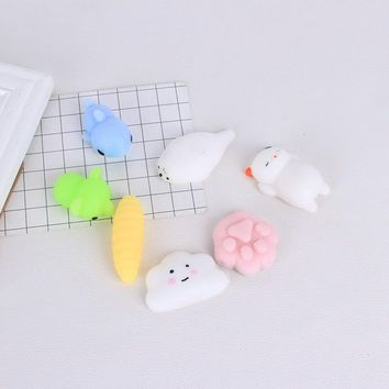 KALCAS Cute Bear Cat Silicone Squishy Mobile Phone Cases DIY Squeeze Healing Fun Kids Adult Stress Reliever Pinch Toy Kneaded
