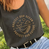 Protect Our Ocean Protect Our Future - Beach Tank