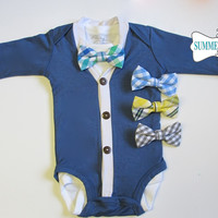 Baby Boy Cardigan and Bowtie