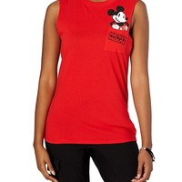 Red Mickey Mouse Muscle Tee