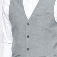 ASOS Vest with Square Hem in Gray