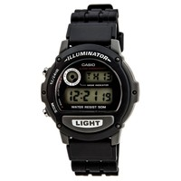 Casio W87H-1V Men's Classic Casual Sport Alarm Chronograph Black Dial Resin Strap Watch