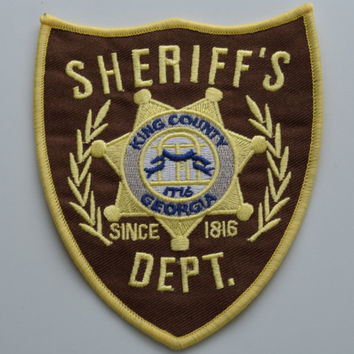 WALKING DEAD Kings County Georgia SHERIFF Dept Embroidered Patch