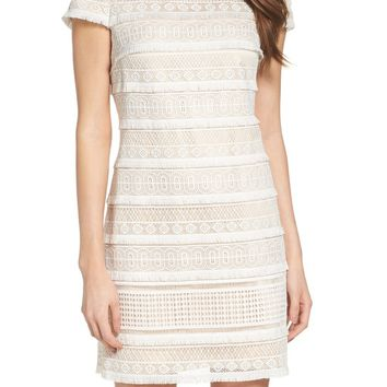 Eliza J Lace Shift Dress (Regular   Petite)  507caf511