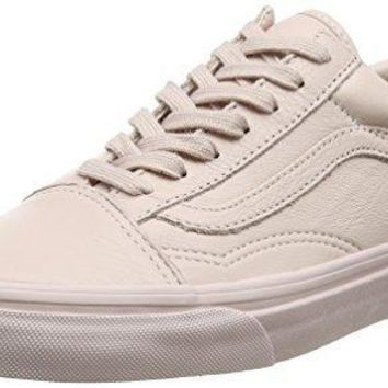 Vans Leather Old Skool Sneakers (mono/sepia Rose) Unisex Classic Skate Shoes