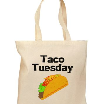 Taco Tuesday Design Grocery Tote Bag by TooLoud