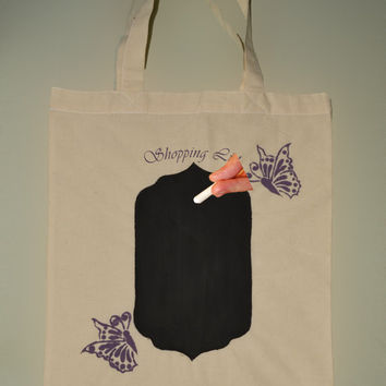 Only 15. Bag with Chalkboard for Grocery List