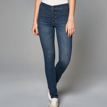 Womens High Rise Super Skinny Jeans   Womens Bottoms   Abercrombie.com